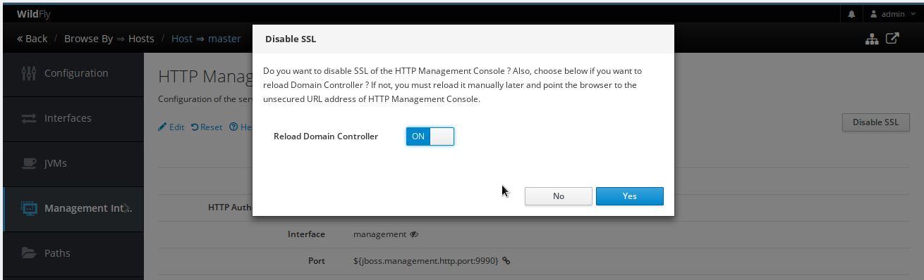 Protect Wildfly HTTP Management Interface with SSL | HAL